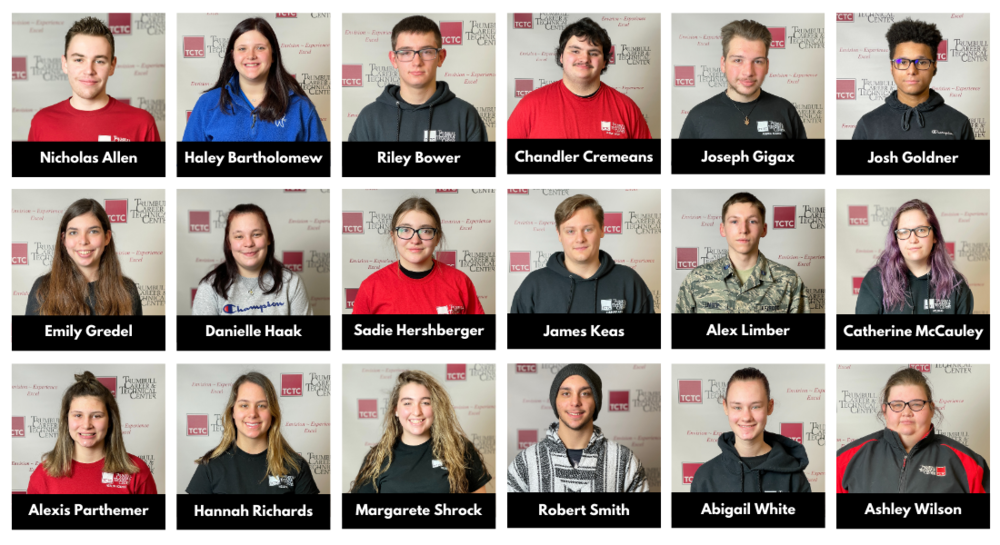Trumbull Career & Technical Center Announces February Students of the Month