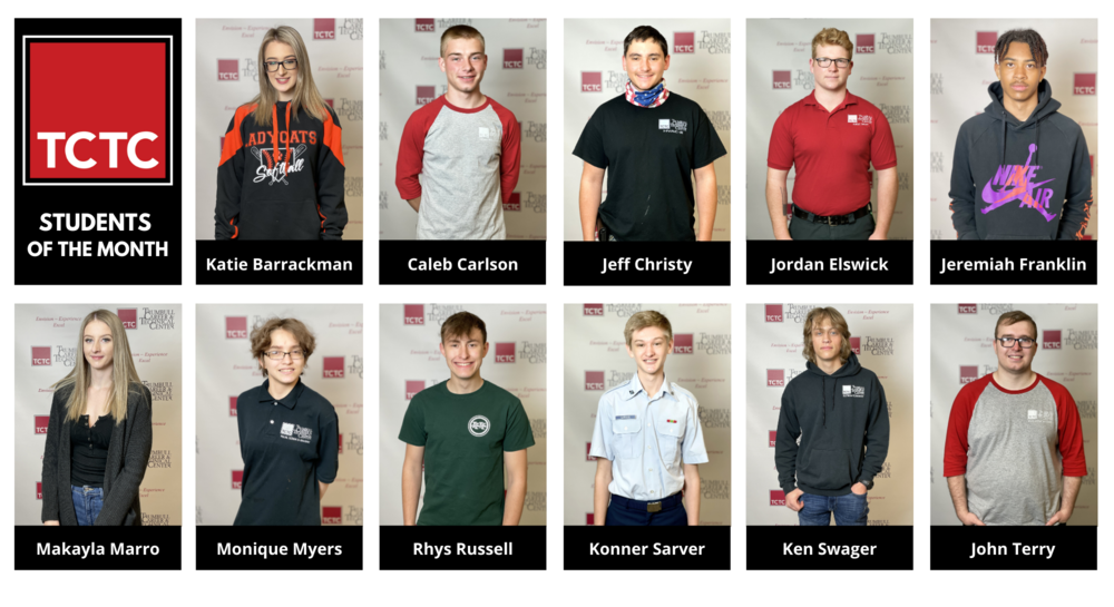 Trumbull Career & Technical Center Announces April & May Students of the Month